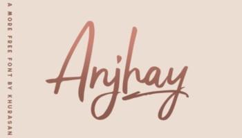 Anjhay Fonts